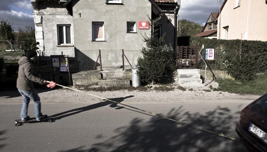 Longboard na mazurach Mieszkancy wsi 1